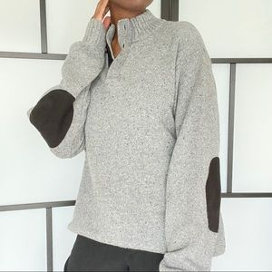 Chap knitted pullover sweater (henley style)